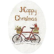 De punto de cruz de Navidad Derwentwater diseños Kit de tarjeta–Navidad entrega