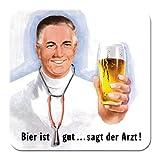Nostalgic-Art 46131 Bier und Spirituosen ist gut sagt der Arzt, Untersetzer