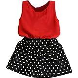 Homebaby Neonate del Bambino Abiti da Principessa Elegante 2pcs Ragazze Completi Tops + Gonne Vestito Estivo Festa…