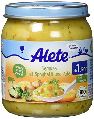 Alete Gemüse mit Spaghetti und Pute, 6er Pack (6 x 250 g)