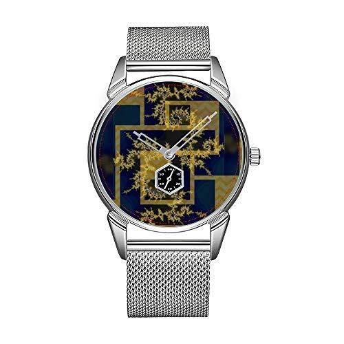 Mode herrenuhr Silber Edelstahl wasserdicht Uhr männer top Marke herrenuhr Uhr Menzies Tartan Plaid Eule Armbanduhr -