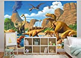 GREAT ART Fototapete Dinosaurier - 336 x 238 cm Dino Welt Kindertapete Tapete Wandtapete Test