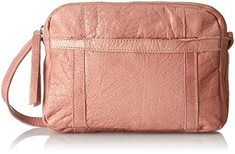 PIECES Pcjacky Leather Cross Body, Sacs bandoulière femme, Pink (Ash Rose), 6x16x21 cm (B x H T)
