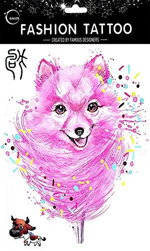 ende und realistische 12 chinesischen Tierkreiszeichen Hund Fake Tattoo-Aufkleber Temp (Realistische Hund)