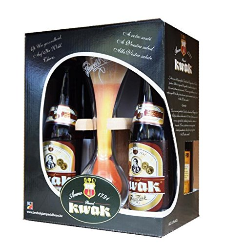 Coffret kwak 4 bieres + 1 verre