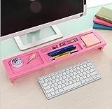 Kunststoff Desktop-Aufbewahrungsbox Multifunktion Montageart Stift Aufbewahrungsregal Schlafzimmer Bürobedarf Finish Rack Rosa Grün Blau 52 * 12 * 6cm / pack von 2 , 1