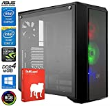 SNOGARD Power Ultra Gaming PC | Intel Core i7-8086K 6x 4000MHz auf 5GHZ übertaktbare CPU, 11GB Nvidia Geforce GTX 1080 Ti, 16GB DDR4 RAM, 500GB M.2 SSD + Windows 10 Pro • High End Gaming-PC Komplett System Gamer Computer