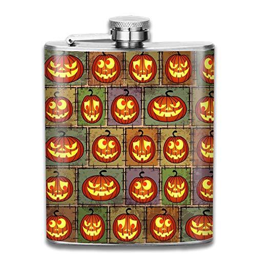 Halloween Shabby Liquor Flachmann Edelstahl Schnapsflaschen Auslaufsicher Cooles Geschenk Für Männer 7oz (Brettspiele Online Halloween)