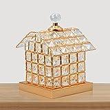 DGF Lampada da comodino in cristallo per la camera da letto di San Valentino FGD (colore : Oro)