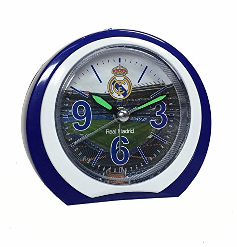 Real Madrid–Reloj despertador silencioso, redondo, del Club Real Madrid