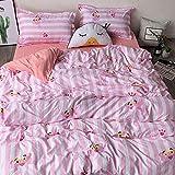 nohbi super weiche Bettbezug Set,Vier Jahreszeiten erhältlich Bettwäsche Quilt Kissenbezug, Umweltgesundheit - F_ Quilt 79in * 90in Bettwäsche 90in * 90in,Winter Thermo Bettwäsche