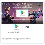 GET UP TO Rs.420 BONUS IN MOBILE LEGENDS||Google Play Gift Code - Digital Voucher