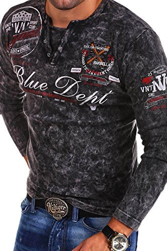 MT Styles Vintage Longsleeve VT-BLUE T-Shirt R-0763 [Schwarz, 4XL]