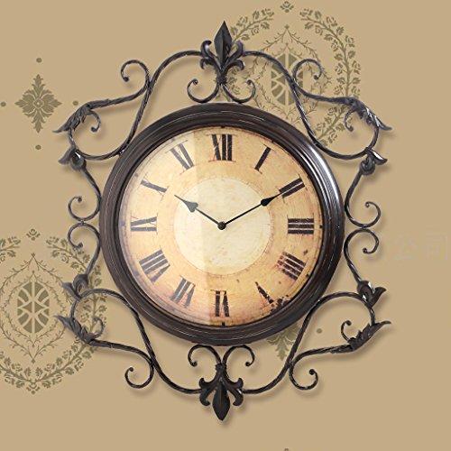 COCO Retro Uhren Uhren Uhren Wohnzimmer Oversized Silent Creative Uhren Europäische Eisen Walls Uhren 20 Zoll Wanduhren HOME