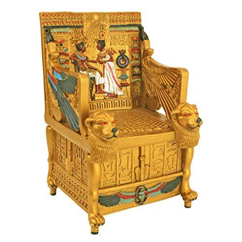 Ägyptische Dekor Schmuckschachtel - King Tut Goldenen Thron Jewelry Box - Ägyptische Statuen (Statue Von König Tut)