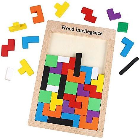 Tetris Puzzle Burr Tangram Tangram Tangram Bloc en Bois Jeu éducatif Jouets de Cerveau pour les  s, Puzzle en Bois de Jouets | Exquis Art  d14af4