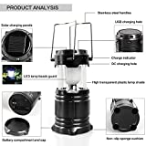 #10: Virat Led Solar Emergency Light Lantern , High Light Torch , Usb Mobile Charger, 3 Power Source Solar, Lithium Battery, Black