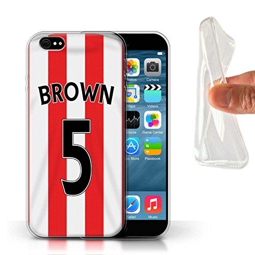 Offiziell Sunderland AFC Hülle / Gel TPU Case für Apple iPhone 6S / Khazri Muster / SAFC Trikot Home 15/16 Kollektion Brown