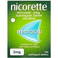 Nicorette Microtab, 2 mg, 100 Tablets (Stop Smoking Aid)