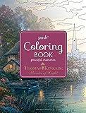 Thomas Kinkade Peaceful Moments Posh Coloring Book
