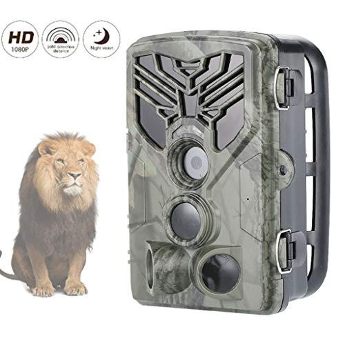 """HAOHOAWU 16MP 1080P cámara Trampa, Caza Scouting Juego cámara IP65 Resistente al Agua Monitoreo 2.0"""" LCD Fauna, jardín, Vigilancia Seguridad para el Hogar"""