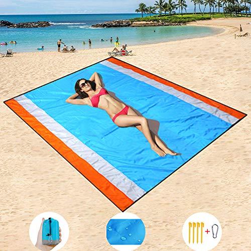 HISAYSY 270 x 210 cm XXL Alfombra de Playa