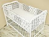 Amilian® Bettumrandung Nest Kopfschutz Nestchen 420x30cm, 360x30cm, 180x30 cm Bettnestchen Baby Kantenschutz Bettausstattung MIX 6 (180x30cm)