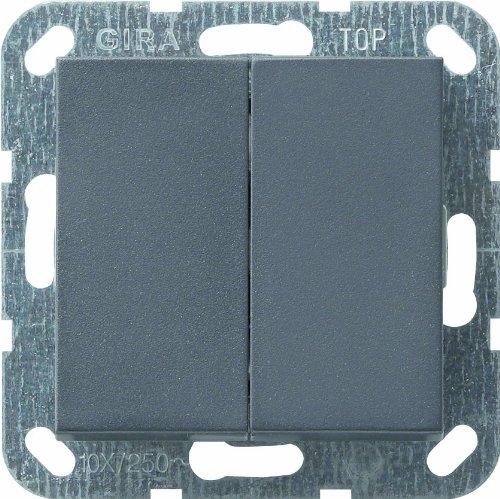 Gira Tastschalter 012528 Serienschalter System 55 ant, 250 V, Schwarz
