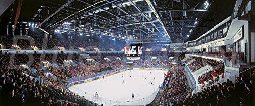 Düsseldorf Eishockey Spiel Panorama - hochwertiger FineArtPrint (120 cm x 50 cm)