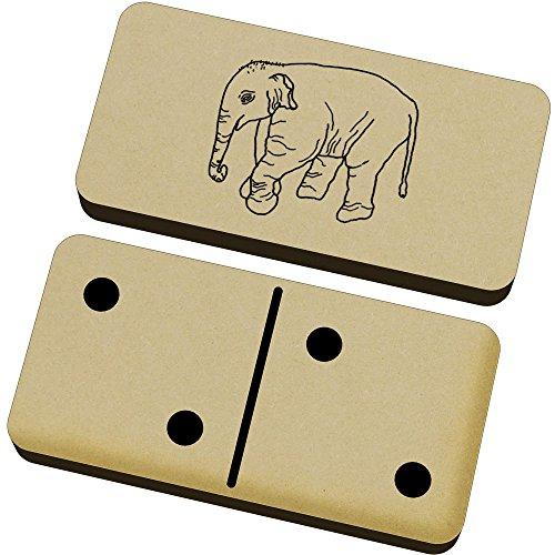 Azeeda 'Bebé Elefante' Domino Juego y Caja (DM00015999)