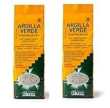ARGITAL - ARGILLA VERDE FINE 2 CONFEZIONI DA 1 KG, polvere fine per viso, corpo e capelli