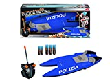 Simba Dickie Spielzeug 201119419010–Rennboot RC Manta Polizei blau