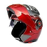 TZQ Casco Off-Road Inverno Motocicletta Uomo Lady Coat Racing Hat,B-OneSize