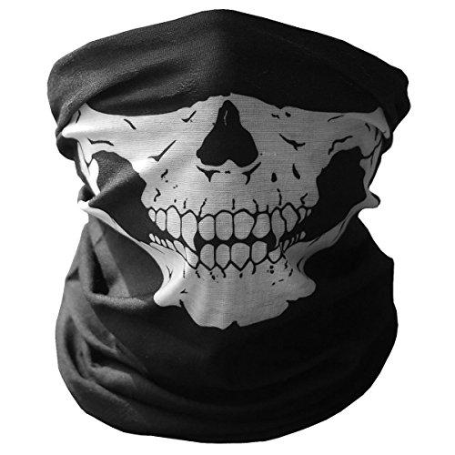 GAMPRO Universal Atmungs Nahtlose Rohr Schädel Gesichtsmaske, staubdicht Winddicht Motorrad Fahrrad Gesichtsmaske für Radfahren, Wandern, Camping, Klettern, Angeln, Jagd, Jogging, Motorradfahren (schw