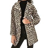 TITAP S-XL Women Sexy Leopard Coats Winter Warm Faux Fur Coat Cardigan Outwear