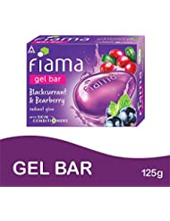 Fiama Gel Bar, Blackcurrant and Bearberry Radiant glow with Skin conditioners, 125g (Pack of 3)