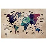 artboxONE Poster 60x40 cm World map 26 Text von Künstler Justyna Jaszke