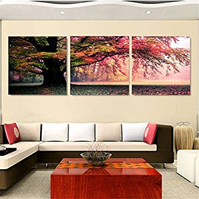 KING DO WAY 3 Piece Wall Art Landscape Painting Pictures Print on Canvas for Living Room Modern (no mat & no frame