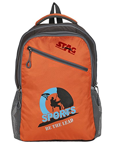 Stag R30 (M) 0507 Vogue Polyester Backpack, 25liters (Orange/Black)