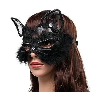 antifaz para Halloween de gata