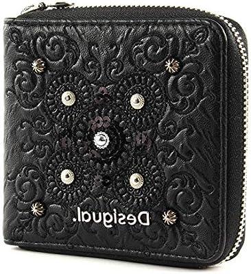 Desigual Majestic Zip Square Mini Wallet Negro