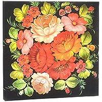 Gysad 1 paquete (20 hojas/paquete) Flores bordadas servilletas de colores Pulpa de madera nativa Servilletas papel Seguridad natural Servilleta negra