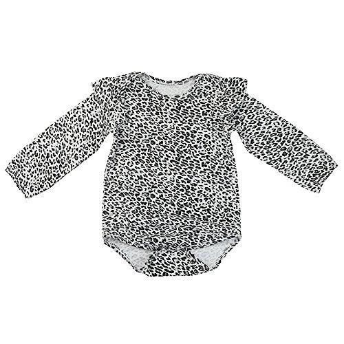 Bio-leopard (Lookhy Neugeborenen Säugling Baby Mädchen Leopard Strampler Jumpsuit Outfits Kleidung Cotton Langarm-Shirt für Mädchen aus Bio-Baumwolle)