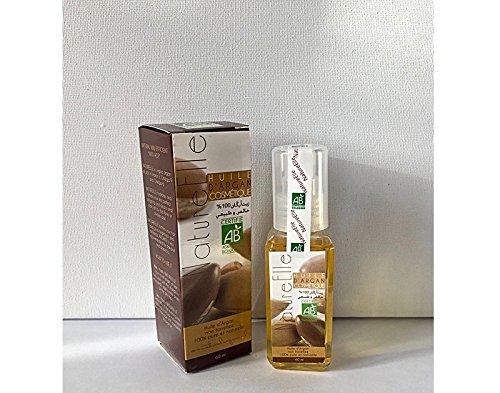 Huile d'argan BIO certifié AB 100% 60ml pure naturelle