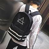 XSBB Youthbag impermeabile moda maschile maschio moda studente studente di scuola materna grande capacità portatile borsa a tracolla, triangolare nero