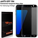 S7 Edge Protection Ecran Confidentialité, TEFOMATE Protection écran Verre Trempé Privacy Glass Screen Protector pour Samsung Galaxy S7 Edge 5.5' [Curved 3D] - Noir