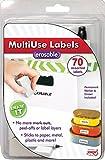 JOKARI Label Einmal radierbar Multi Etiketten Starter Kit mit 70Etiketten, Radierer und Stift