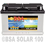 BSA Solar DC 12V 100Ah Batterie Solarbatterie Versorgungsbatterie Boot Wohnmobil - 6 Grössen (100Ah)