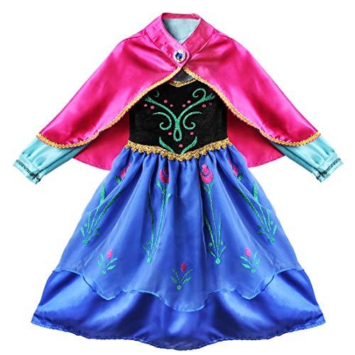 IEFIEL Vestido Princesa Disfraz Niña Costume Cosplay