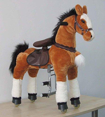 UFREE Action Pony, caballo mecánico de juguete de tamaño grande, montar, botar arriba y abajo, altura 44'' para niños de 4 a 16 años